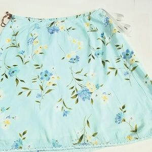 Sonoma Life+Style Light Blue Floral Skirt - small